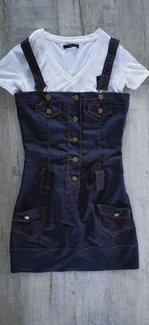 Włoska Sukienka Jeansowa/ Rozmiar_S