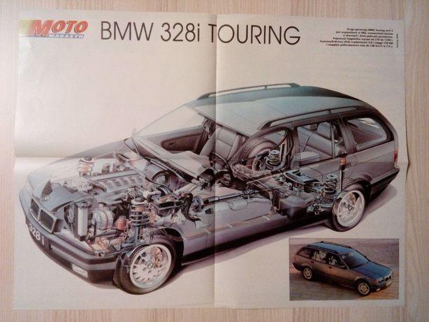 Plakat Poster BMW 328i touring E36/Alfa Romeo 156 V6 DTM 41cm x 53,5cm