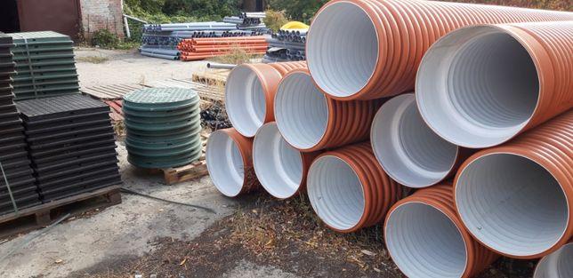 Гофрированные трубы двухслойные для наружной безнапорной канализации