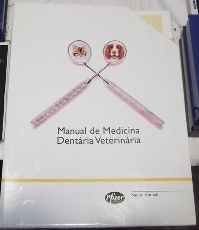 Manual de Medicina Dentária Veterinária tamanho grande c/caixa externa
