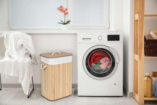 Kosz bambusowy pojemnik na pranie 1 komora 72L natural