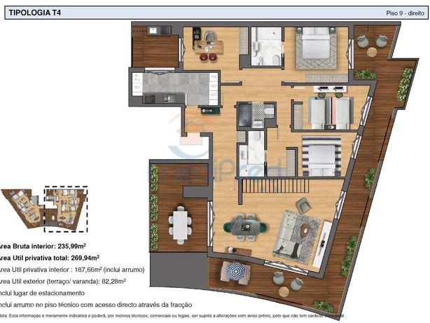 Apartamento duplex T4 + 1 NOVO com TERRAÇO PANORÂMICO nas...