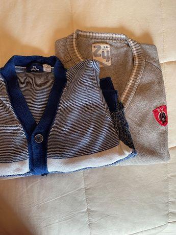 Dois casacos de malha - 1 da Chicco e 1 da Zippy