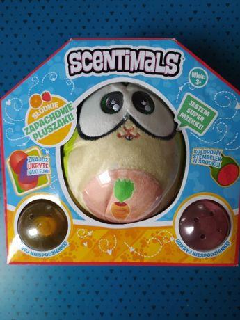 Zapachowy pluszak SCENTIMALS 2 ( maskotka miś ) + naklejki i stempelek