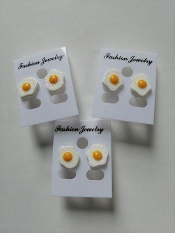 Kolczyki jajka sadzone