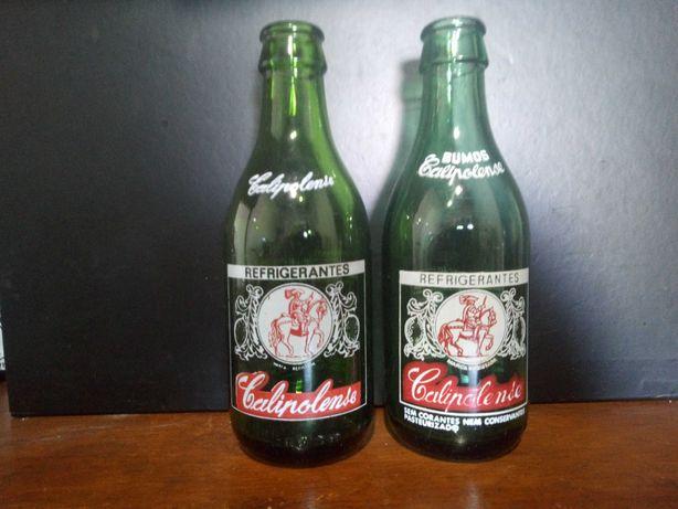 Garrafas pirogravadas refrigerantes calipolense (conjunto 2 garrafas)