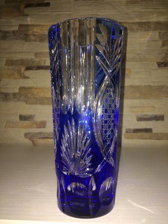 Atiga jarra em cristal em duble azul cobalto