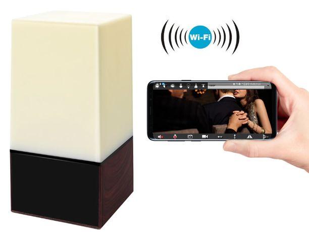 Camera oculta HD em candeeiro visão noturna camara espia spy escondida