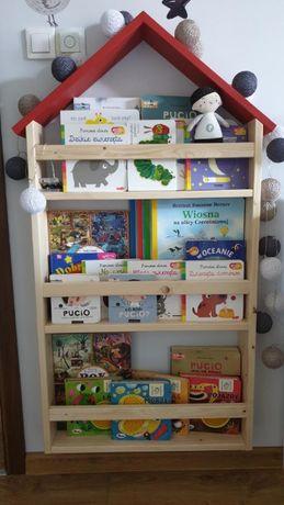 Półka domek drewniana na książki! Idealna do pokoju dziecka