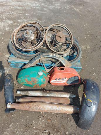 Części motocyklowe koła wsk shl komar koło błotnik tłumik bak