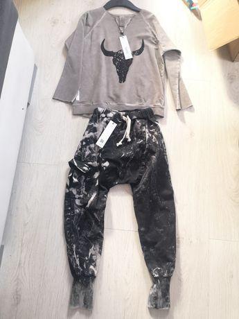 Booso 8/9 acid bluzka spodnie