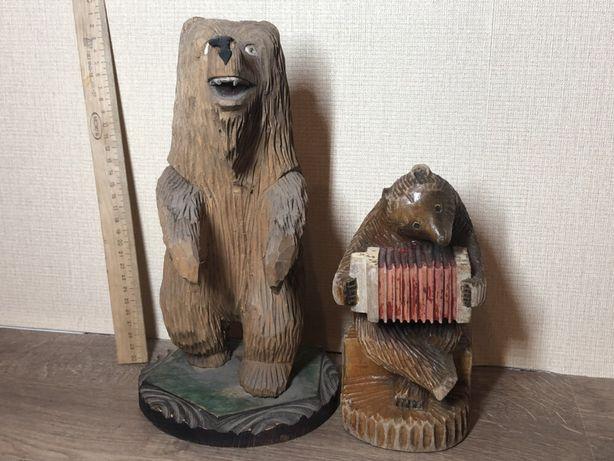2 деревянных мишки (ручная работа)