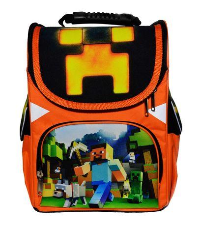 Школьный ранец Minecraft Майнкрафт каркасный рюкзак ортопедический