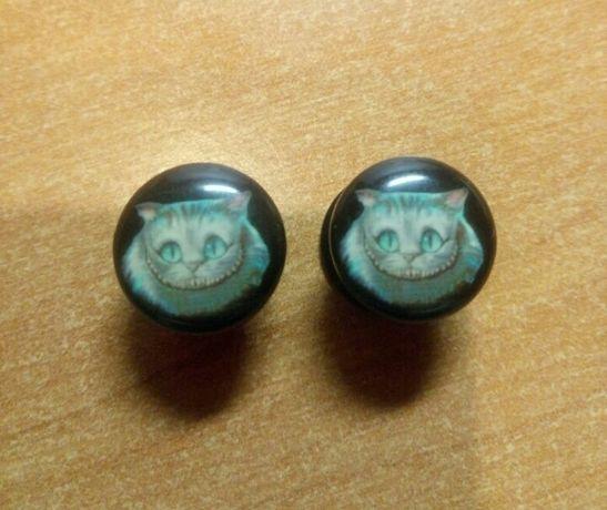 Акрил плаги 10 мм чеширский кот