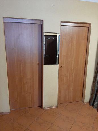 Drzwi wewnętrzne pokojowe przesuwne z ościeżnicą - 3 komplety