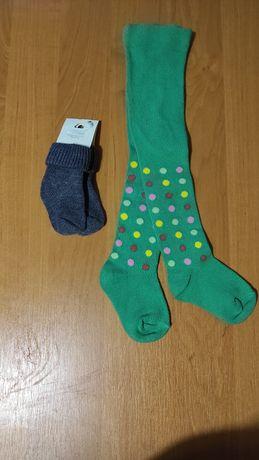 Колготки George 74-80р і носочки 0-6міс за 50грн