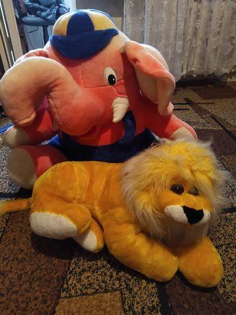 Мягкие игрушки Лев и Слон
