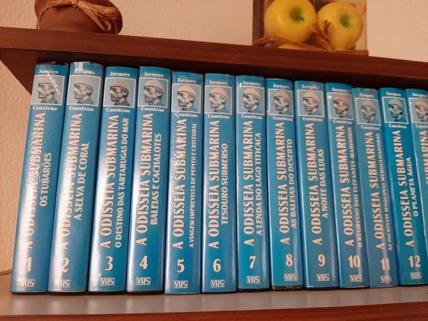 Cassetes VHS novas Colecção a Odisseia Submarina