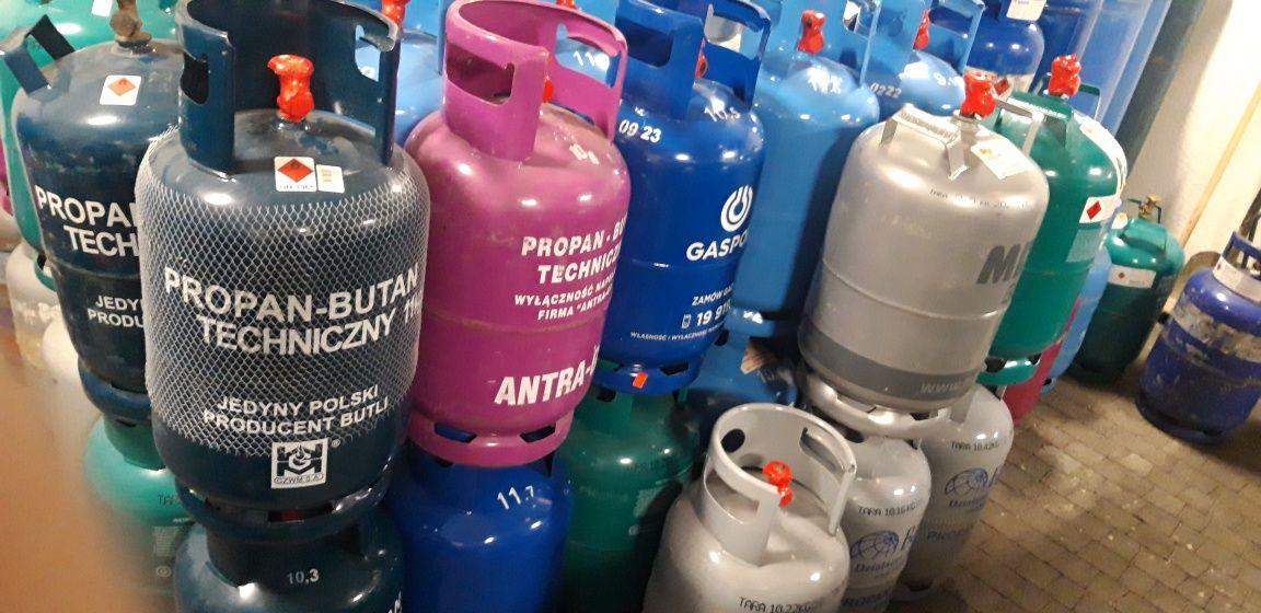 Butle gazowe, Dostawa, wymiana butli gazowych. butla gazowa.