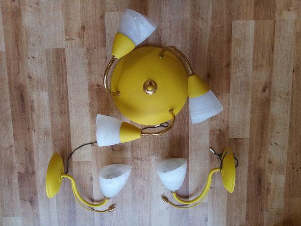 lampa sufitowa i 2 kinkiety komplet