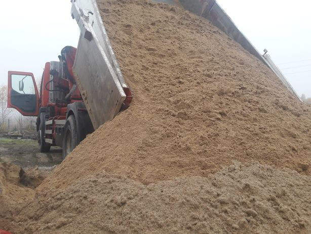Transport piasek żwir piach usługi hds wywrotka ziemia ogrodowa