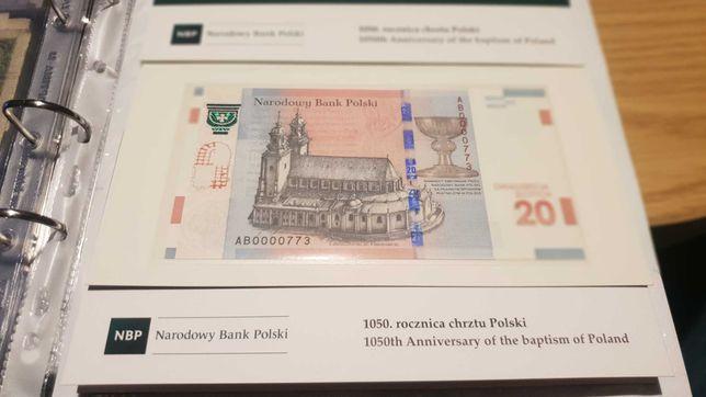 Banknot Kolekcjonerski 1050 Num 773 !!!