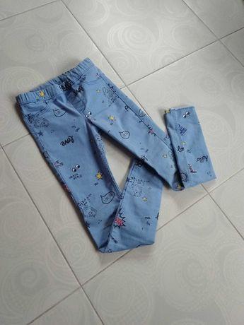 Фірмові круті джегінси лосіни, джинси на 7-8-9р. від H&M