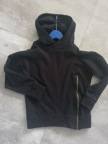 Bluza z kapturem 134/140 czarna chłopięca