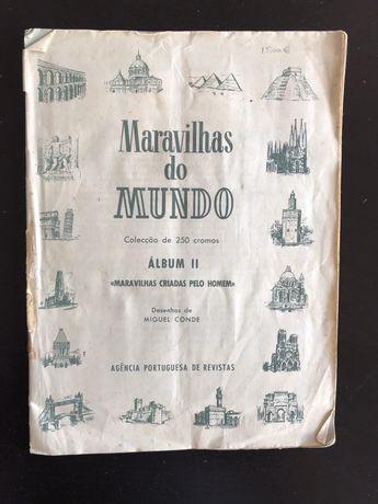 """Caderneta Completa Cromos """"Maravilhas do Mundo"""""""