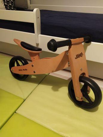 Drewniany rowerek biegowy dwu i trójkołowy Jake Milly Mally