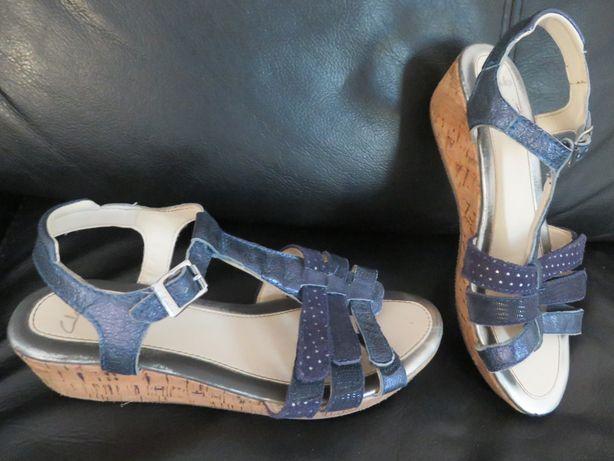sandałki Clarks buciki dla dziewczynki rozm. 33,5