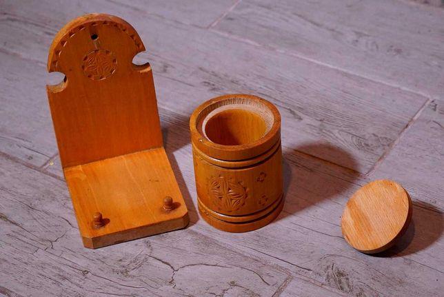 солонка деревянная времен ссср винтаж