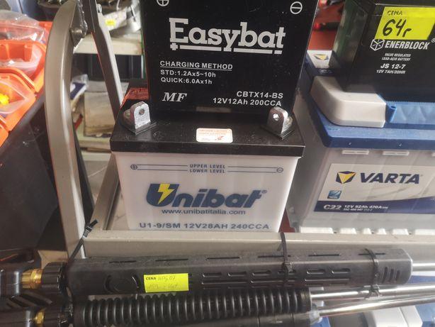 Akumulator Unibat 12V28AH U19 Lewy Plus Traktorek kosiarka