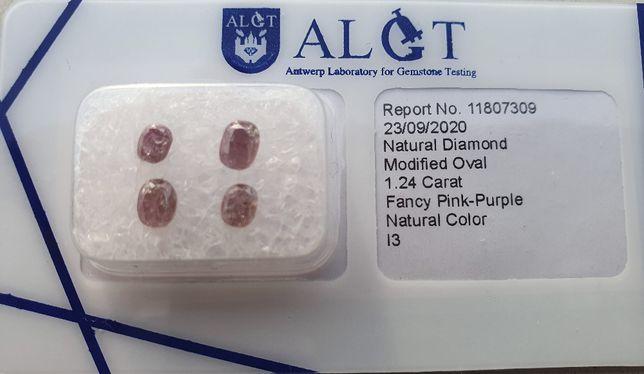 4 Różowe diamenty 1,24 Carat Unikat rzadkie CERTYFIKAT Inwestycja