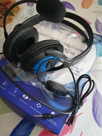 Auscultadores gaming headset PS4 comunicação novo