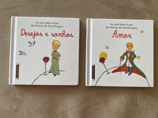 2 Livros Principezinho Desejos e Sonho e Amor frases de Antoine