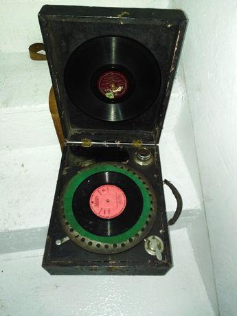 Patefon 1920 na korbkę gramofon unikat
