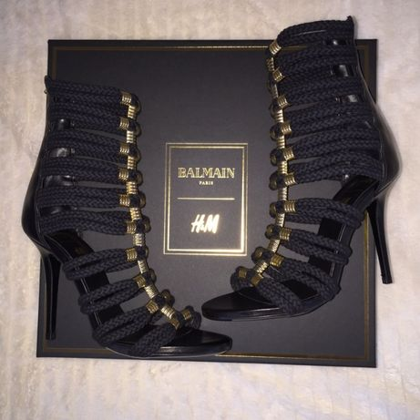 szpilki BALMAIN for H&M 37 sandały MEGA SEXY Premium UNIKAT limited