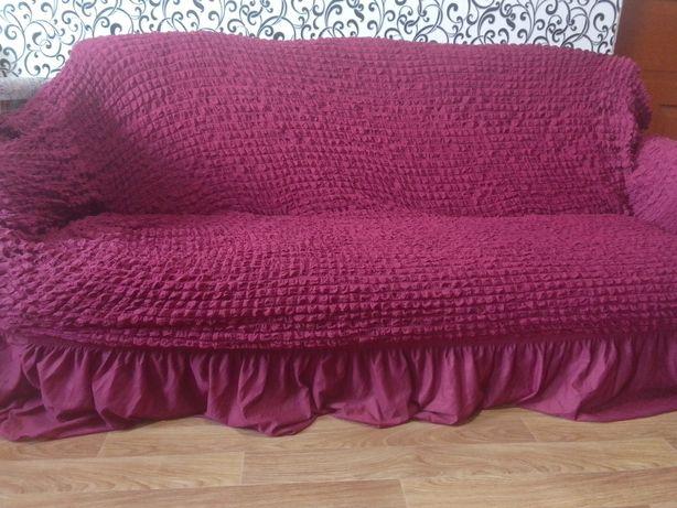 Продам комплект новый , чехлы на два кресла и диван