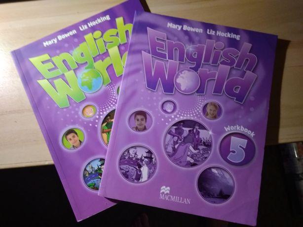 Английский книга и тетрадь