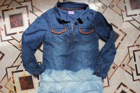 Платье сарафан джинсовый на 4-5 лет