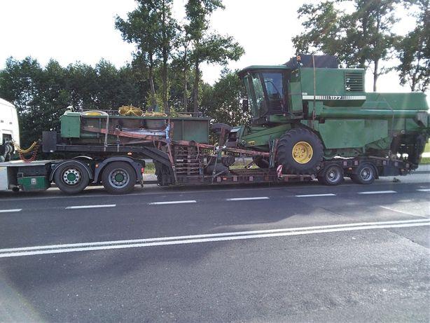 Transport kombajnów maszyn budowlanych leśnych forwarder harvester