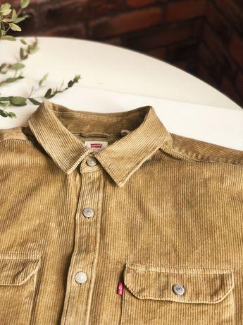 Рубашка levi's original xl , вельветовая , плотная .