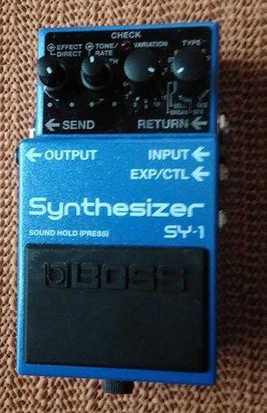 Pedal sintetizador Boss SY 1 para guitarra / baixo
