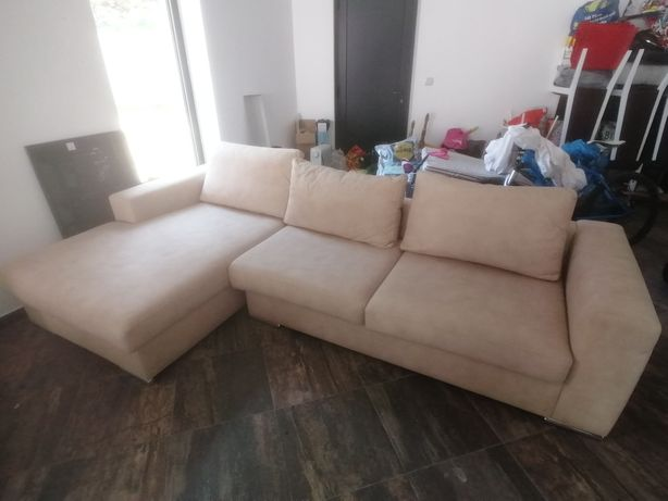 Sofá 4 lugares + chaise long