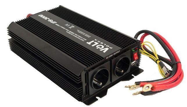 Przetwornica 12V 230V samochodowa napięcia IPS 1700W/3000W (PRZ18)