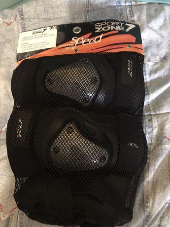 Conjunto de proteção para joelhos cotovelos e pulsos
