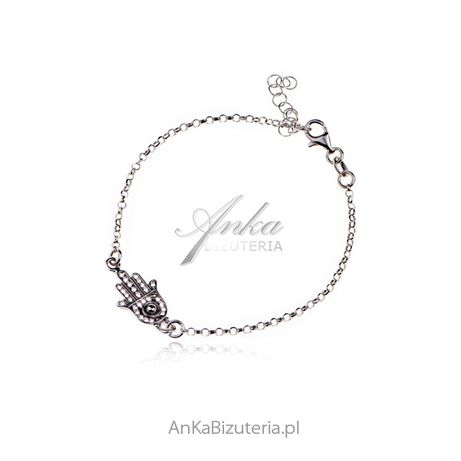 ankabizuteria.pl cieniutki różaniec damski na szyje Srebrna bransoletk