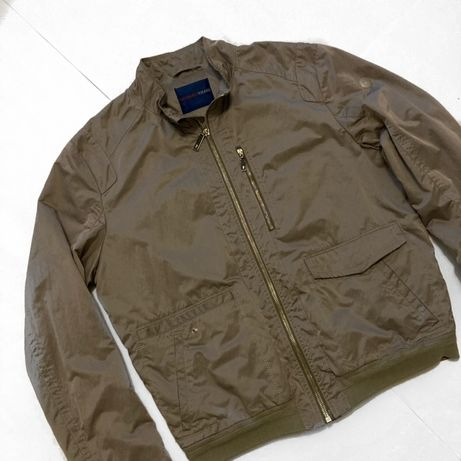 Trussardi jeans bomber бомбер куртка мужская оригинал