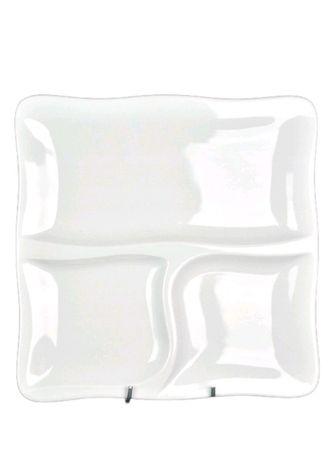 Talerz trójdzielny Lubiana z podziałką 28 cm nowy